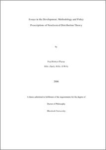 neoclassical thesis Iscuss any 2 of the main theories from the classical/neoclassical school of criminology 5 pages apa format proper internal citations as well as properly formatted.