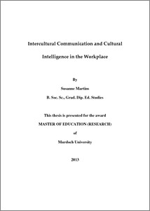 cultural intelligence thesis