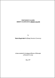 Phd thesis on orientalism