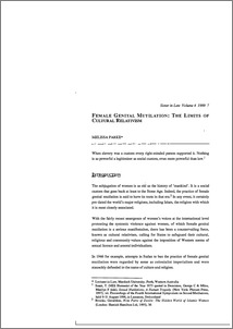 female genital mutilation thesis Bachelor`s thesis (amk) degree programme in nursing 2010 sarah cheserem female genital mutilation in kenya - a literature review.