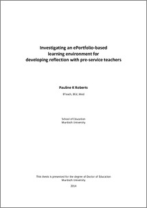 Investigating an ePortfolio-‐based learning environment for