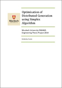 distributed generation thesis Master thesis optimization of the operation of a distribution network with distributed generation using genetic algorithm a thesis submitted by sergi cabr e ramos for.