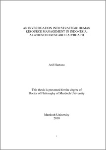 Phd  thesis on strategic human resource management, Homework