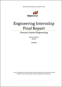 internship report format for engineering