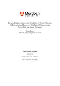 Design, implementation, and simulation of control systems for