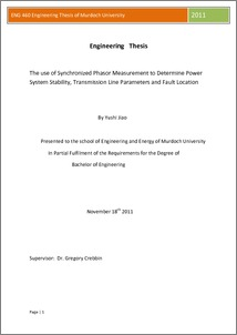 thesis paper on power system stability Please, i am searching for master thesis topic in electrical power engineering: power system analysis,, power system stability,power system simulations.
